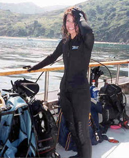 Kathie Fry Scuba Diving Off Catalina Island